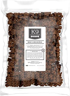K9 Connoisseur Single Ingredient Dog Lung Bites Treats Made in The USA Oderless Grain Free Beef Chew Bites Rich in Protein Best for Puppies, Small, Medium and Large Breed Dogs