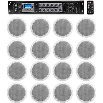 """Rockville CCL6T White 70V 6/"""" Commercial Ceiling Speakers 4 Restaurant//Office 20"""