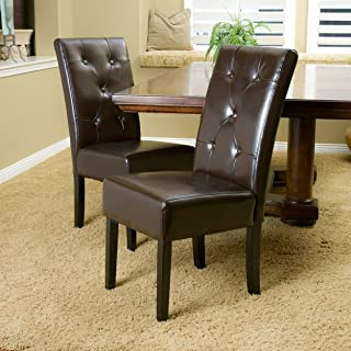 Christopher Knight Home Taylor Dining Chair (Set of 2), Chocolate Brown