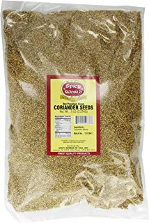 Spicy World Coriander Seeds Whole Bulk, 5-Pounds