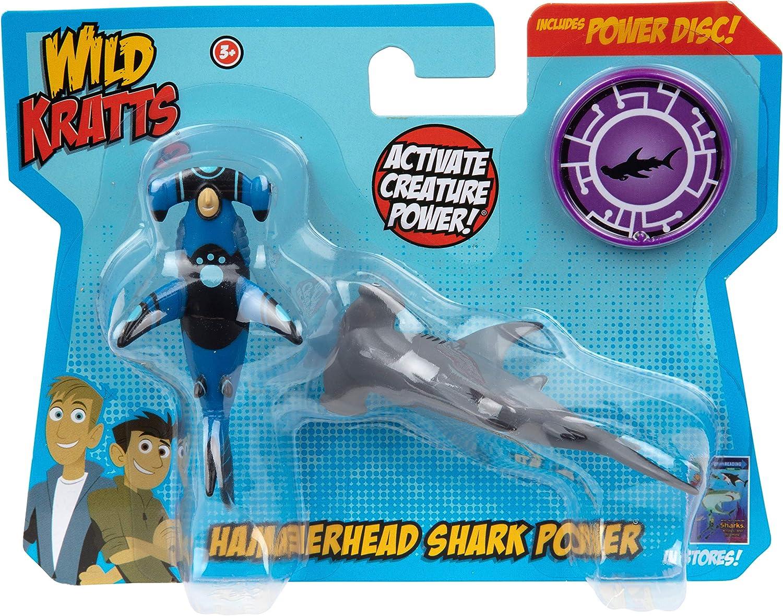 Wild Kratts Toys - 2 Pack Creature Power Action Figure Set - Hammerhead Shark Power - Age 3+