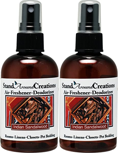 Set Of 2 Spray For Room Linen Room Deodorizer Air Freshener 4 Fl Oz Scent Indian Sandalwood A Warm Sweet Rich Woodsy Fragrance