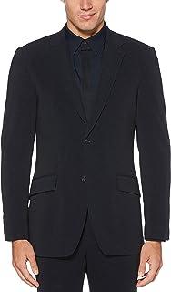 Perry Ellis Men's Very Slim Fit Stretch Solid Dot Print Suit Jacket, Dark Sapphire, Small/38 Regular