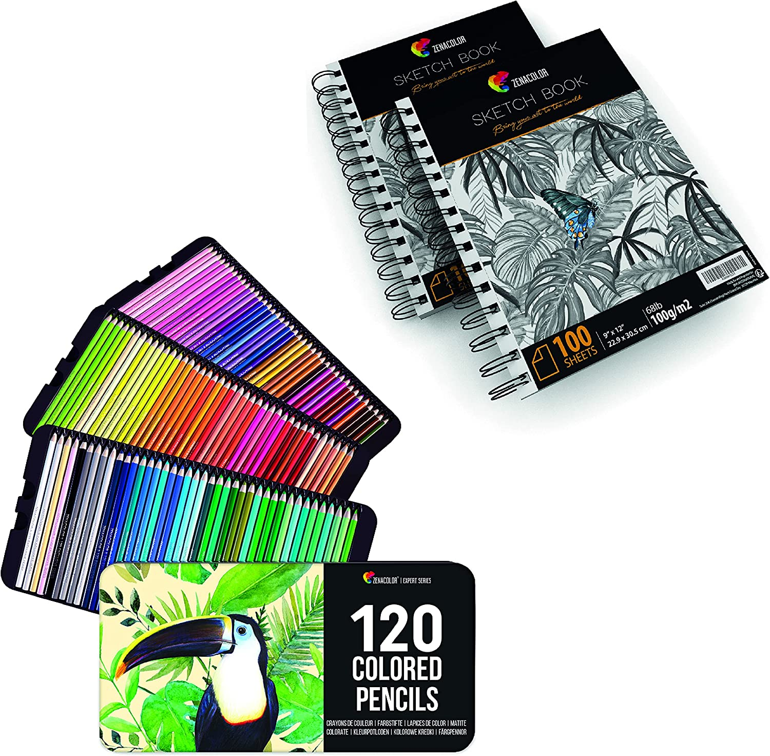 Set of 120 Colored Pencils Professional Box Metal Sketch with Manufacturer regenerated product Max 58% OFF