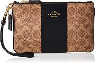 Coach Wristlet for Women-Monogram Brown/Black