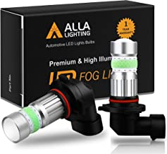 Alla Lighting 2800lm H10 9145 LED Lights Bulbs 8000K Ice Blue Xtreme Super Bright Fog Light COB-72 PY20D 9140 9155 9040 9045 Replacement