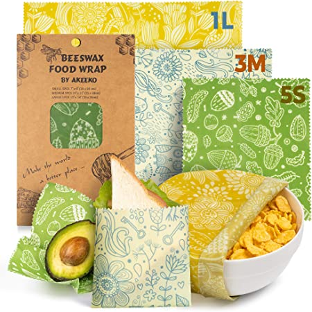 Set of 6 Assorted Beeswax Wraps