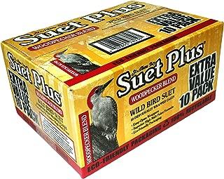 St. Albans Bay Suet Plus Woodpecker Bird Suet 10 Pack of 11 oz. Bird Suet Cakes