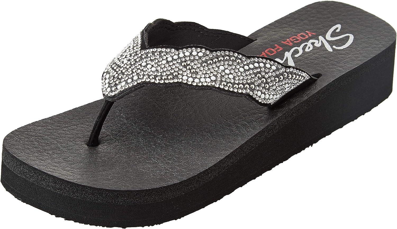 Skechers Cali Women's Sales of SALE items from new works Max 63% OFF Flip-Flop Pearl Vinyasa-Happy