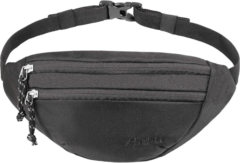 Running sale Pack with 3-Zipper Pockets Women Portland Mall for Bel Men Adjustable