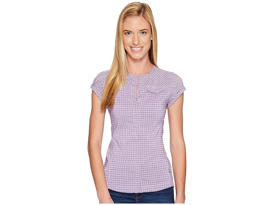 Fjallraven Abisko Stretch Shirt Short Sleeve (Orchid) Women