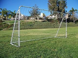 Display4top Portería de fútbol de 3,65 m x 1,82 m, con red y amarres, de
