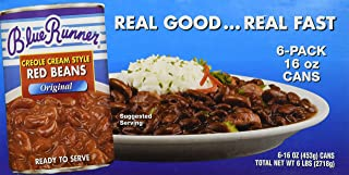 Blue Runner Creole Cream Style Red Beans (6-pack of 16-ounce cans)