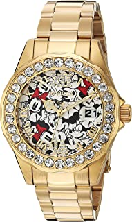 Women's Disney Limited Edition Quartz Watch with Stainless-Steel Strap, Gold, 18 (Model: 24419)