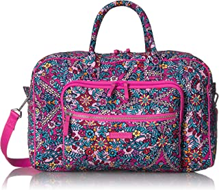 Vera Bradley womens Iconic Compact Weekender Travel Bag, Signature Cotton