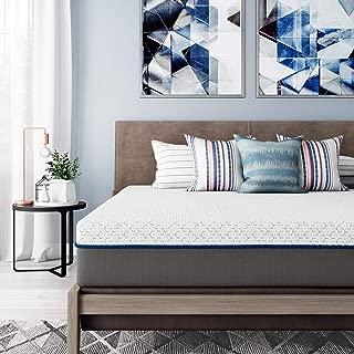Signature Sleep Flex 10-Inch Charcoal Gel Memory Foam Mattress, King Size