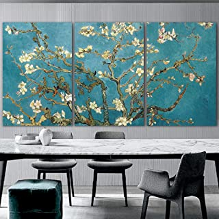 wall26 3 Panel Canvas Wall Art - Almond Blossom by Vincent Van Gogh - Giclee Print Gallery Wrap Modern Home...