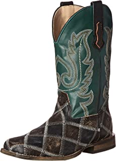 Roper Patches Square Toe Cowboy Boot (Toddler/Little Kid)