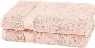 Pinzon Organic Cotton Bath Sheet Towel, Set of 2, Pale Peach