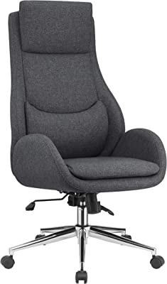 """Coaster Home Furnishings Upholstered Padded Seat Grey and Chrome Office Chair, 23.5"""" W x 30"""" D x 46-49"""" H"""