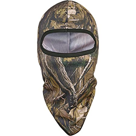 TAGVO Hunting Balaclava Face Mask, Windproof Camouflage Balaclava Tactical Hood Headwear, Mesh Helmets Liner for Adults Women and Men Elastic Universal Size