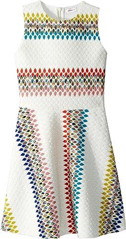 Raschel Detailed Neoprene Dress (Big Kids)