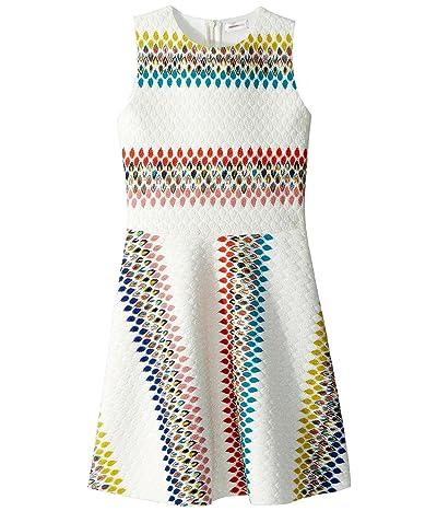 Missoni Kids Raschel Detailed Neoprene Dress (Big Kids) (White) Girl