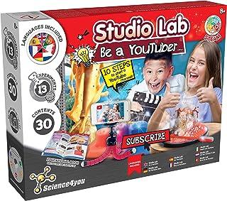 Science4you - Youtuber-kit voor kinderen +8 jaar - Maak uw kanaal, toon 5 wetenschappelijke ervaringen voor kinderen met d...