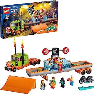 LEGO 60294 City Stuntz Stuntshowtruck & Motor met Vliegwielaandrijving met Dunktank Bouwset met Racer en Clown Minifigure...