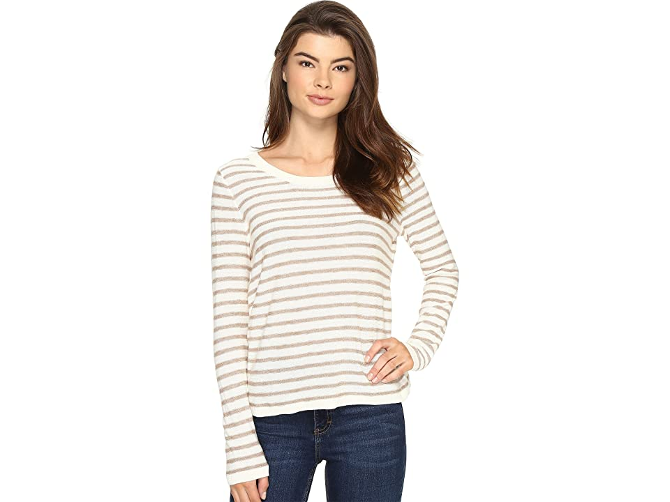 kensie Flecked Stripe Sweater KS2K5553 (Honey Wheat Combo) Women