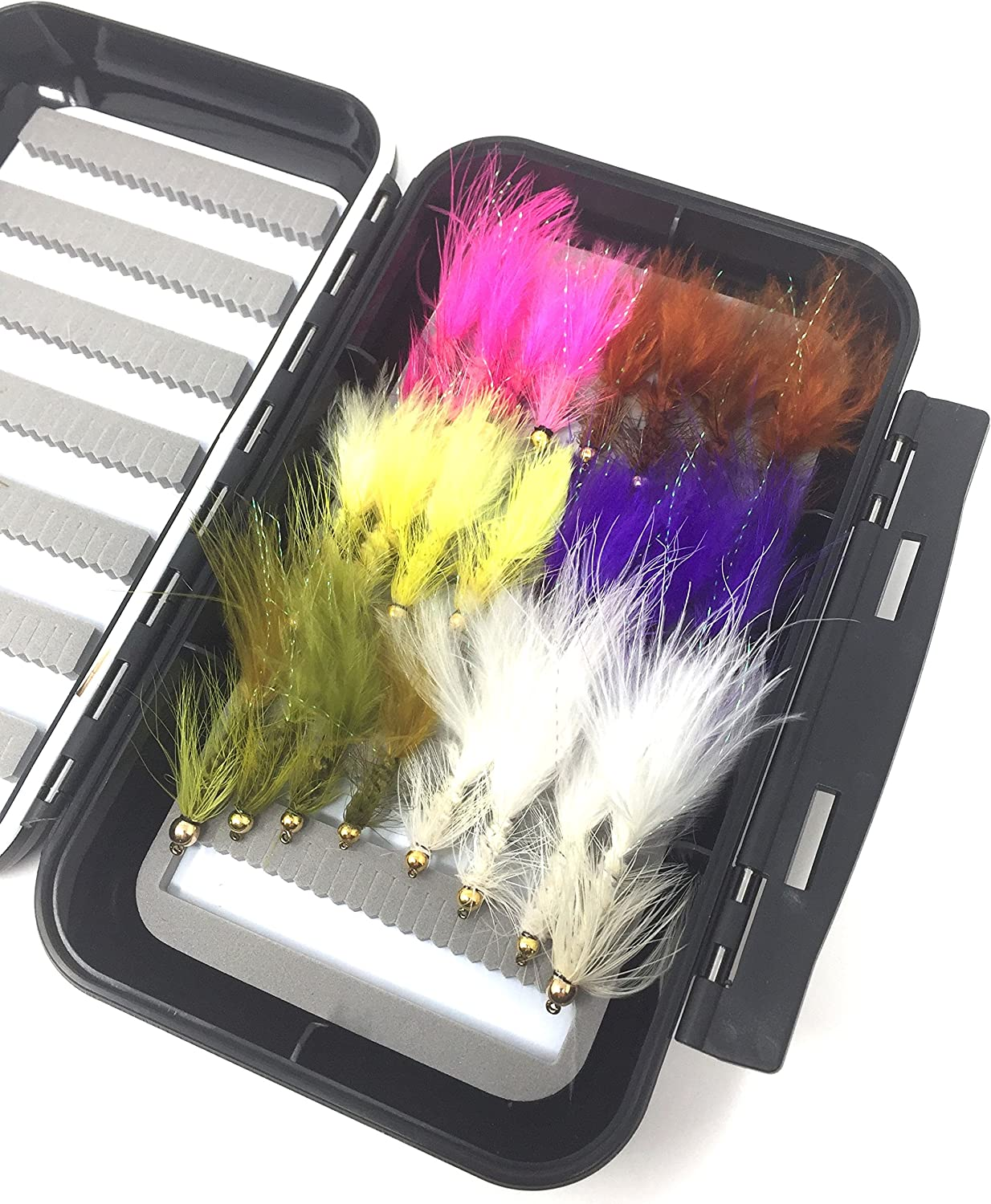 Fly Fishing Assortment - Bead Head 24 Bugger Opening large release Nashville-Davidson Mall sale Flies Wooly with