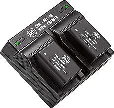 2 Pack of DMW-BMB9 Batteries and USB Dual Battery Charger for Panasonic Lumix DC-FZ80, DMC-FZ40K, DMC-FZ45K, DMC-FZ47K, DMC-FZ48K, DMC-FZ60, DMC-FZ70, DMC-FZ100, DMC-FZ150 Digital Camera