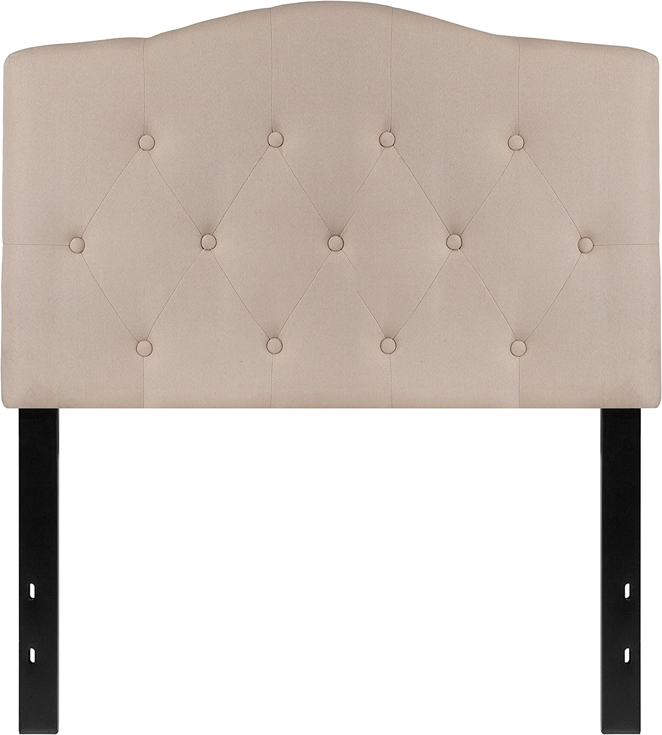 Flash Furniture Cambridge Tufted Upholstered Twin Size Headboard in Beige Fabric