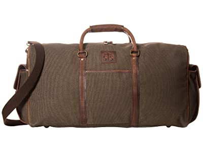 STS Ranchwear The Foreman Duffel Bag (Dark Khaki Canvas/Leather) Duffel Bags