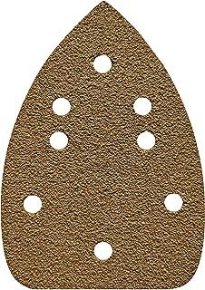 FUGEN Gold 100PCS Mouse Sander Pads Assortment 40 80 120 240 400 Grit for Ryobi Corner Cat, Meterk, TECCPO, Tacklife, TOPVORK, Genesis, Harbor Freight, Hi Specs Mouse Detail Sander Mouse Sandpaper Mou