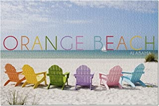 Lantern Press Orange Beach, Alabama - Colorful Beach Chairs 94478 (1000 Piece Premium Jigsaw Puzzle for Adults and Family,...