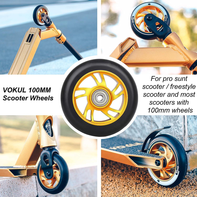 VOKUL Ruedas de repuesto para patinete Pro Scooter Neo de 100 ...