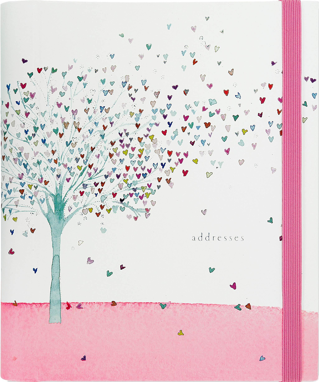 Tree Hearts Large Address Book