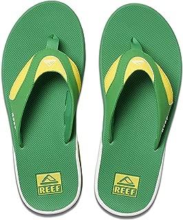reef fanning flip flops green yellow