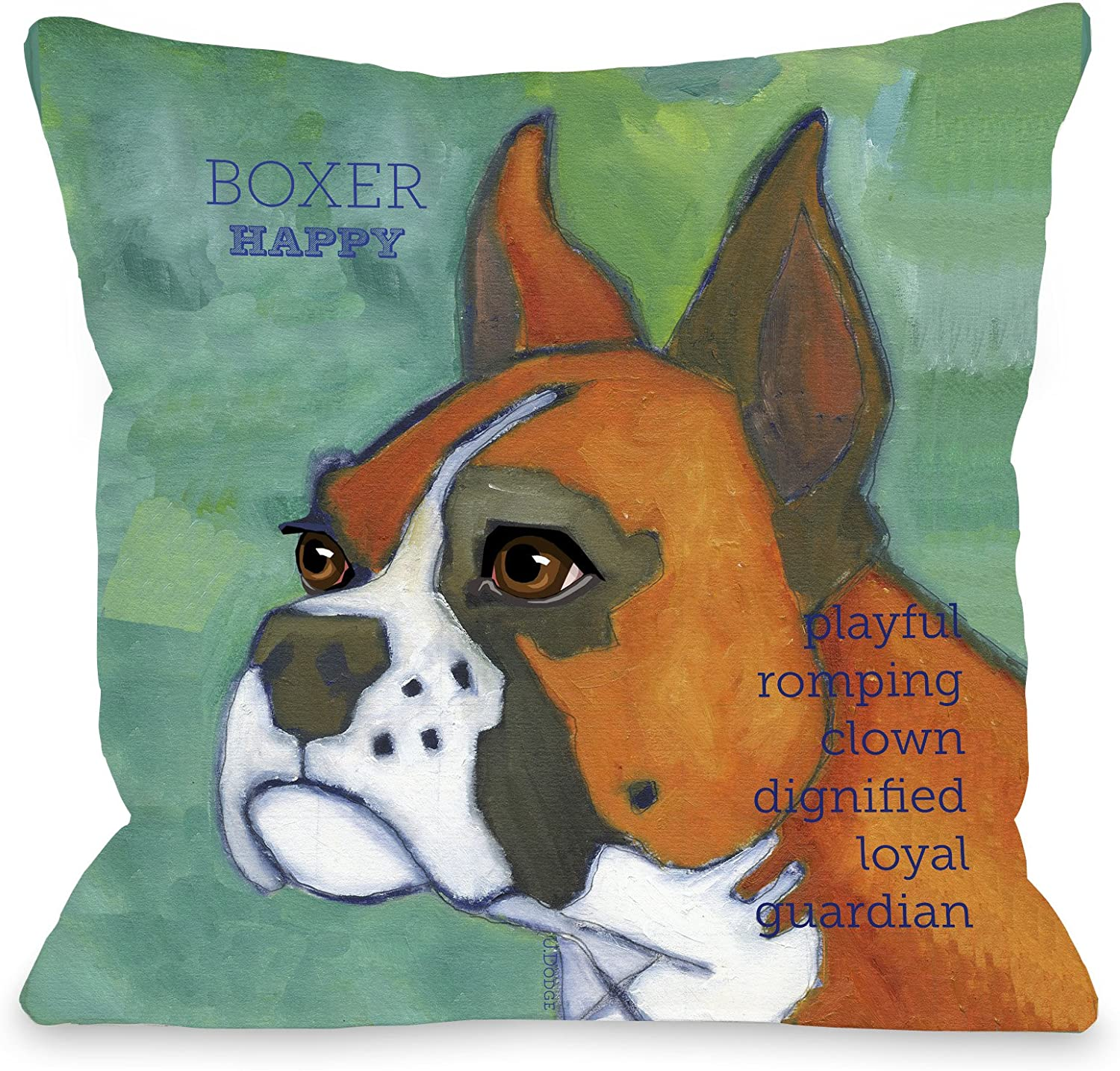 One Bella Casa Boxer 1 Pillow, 18 by 18-Inch