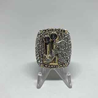 Head Coach Nick Saban Alabama Crimson Tide High Quality Replica 2017 CFP Championship Ring Size 9.5-Silver US SHIPPING