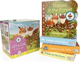 Animal Babies Lift-a-Flap Boxed Set 4-Pack: Babies on the Farm, Babies in the Forest, Babies in the Snow, Babies in the Wi...