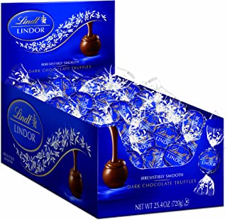 Lindt Chocolate Lindor Truffles, Dark Chocolate, Great for Holiday Gifting, 60 Count