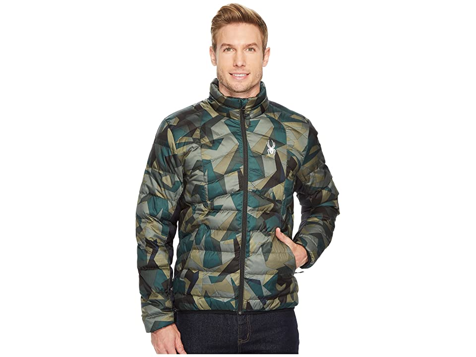 Spyder Geared Full Zip Synthetic Down Jacket (Guard Camo Print/Black) Men