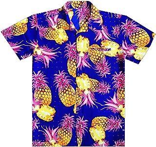 Virgin Crafts Hawaiian Shirts for Men Button Dowon Short Sleeve Pineapple Aloha