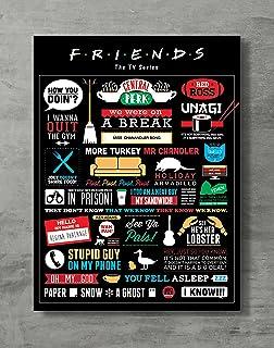 "Friends Poster- Friends TV Show Canvas Print Friends Merch Wall Art Posters Print Standard Size 18""x24"" Inches"