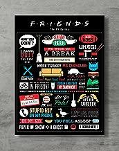 Friends Poster- Friends TV Show Canvas Print Friends Merch Wall Art Posters Print Standard Size 18