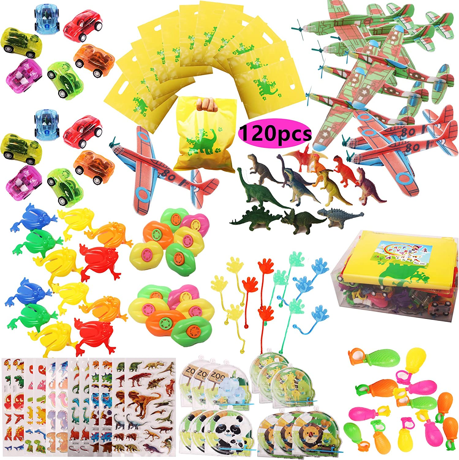 Foci cozi Toy Assortment 120PCS Prize Box Toys for Classroom Pinata Filler Toys for Kids Birthday Party Favors Assorted Carnival Prizes for Boys and Girls Treasure Box   Chest Prizes Toys for Classroom Doctors Dentists Office Prize Box Fillers