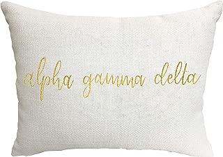 Alpha Gamma Delta Sorority Throw Pillow