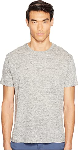 Linen Relaxed Fit Crew Neck Tee